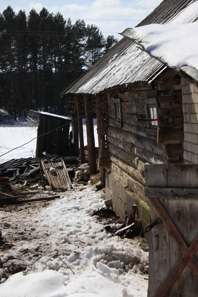 Deconstruction of barn