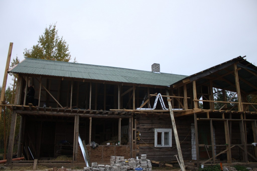 Construction of house