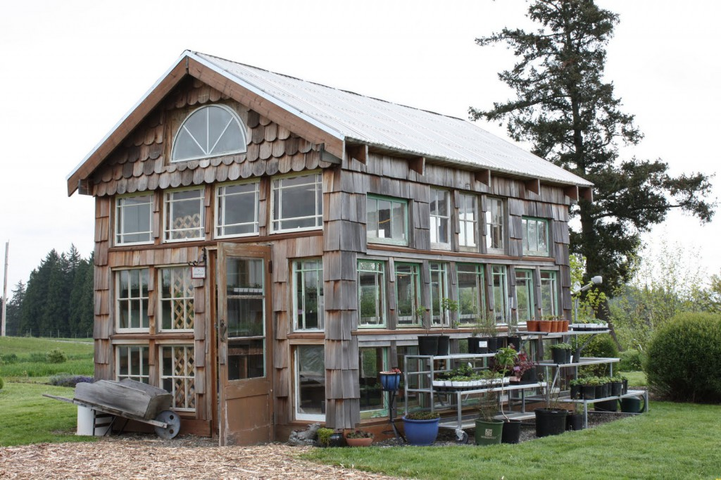 Wooden Shingle Greenhouse