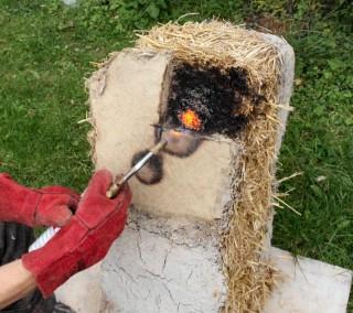 Straw Fire Testing