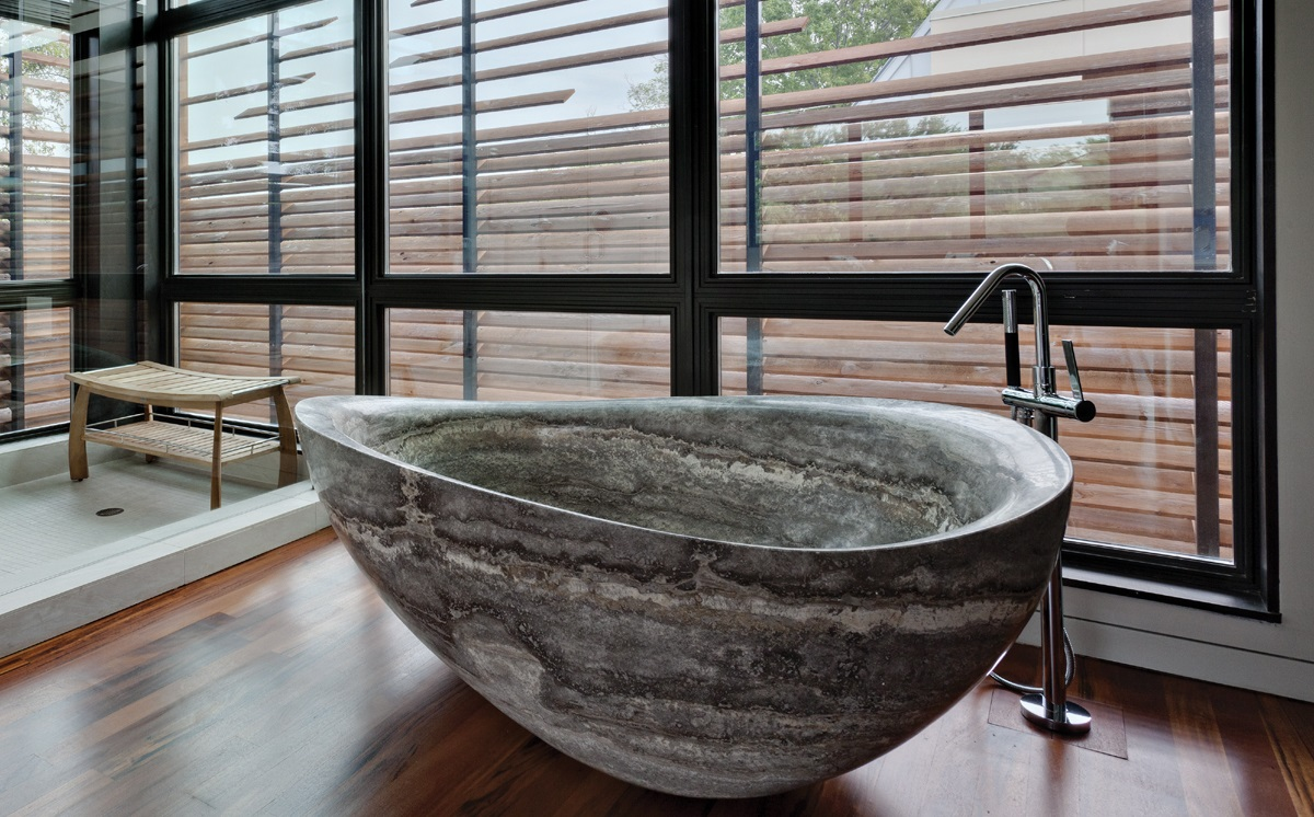 Natural stone bathtub 1