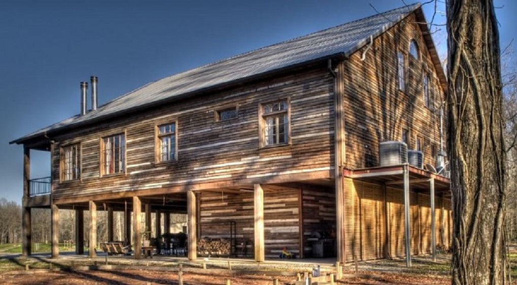 Reclaimed wood house 1
