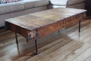 Salvaged wood coffee table