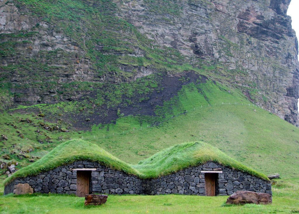 Green Turf roofs - Island of Heimaey, Iceland
