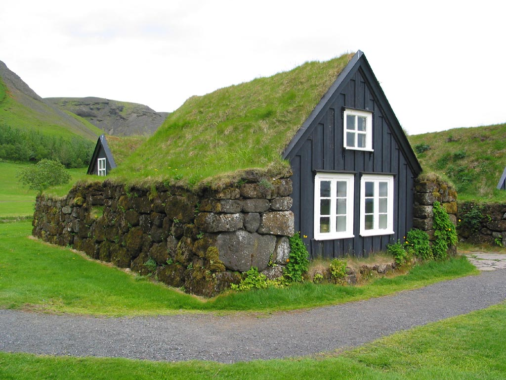 Iceland Cottage Green roof