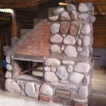 Masonry Heater in construction
