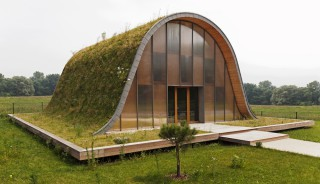 Wave-House with Grass-Roof